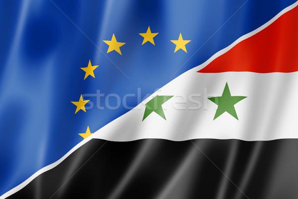 Европа Сирия флаг смешанный оказывать Сток-фото © daboost