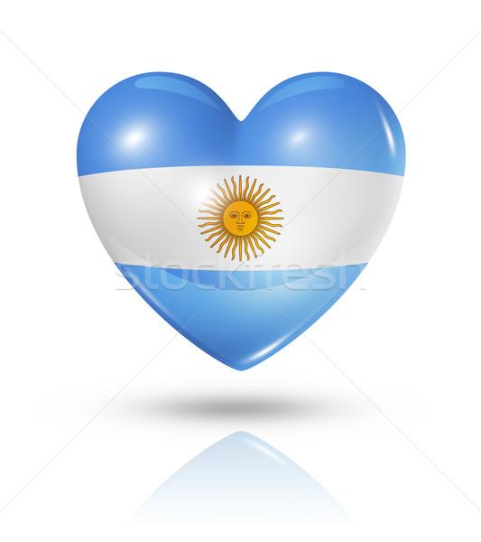 Amor Argentina corazón bandera icono símbolo Foto stock © daboost
