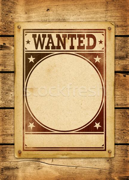 Keresett poszter fa tábla régi fa panel Stock fotó © daboost