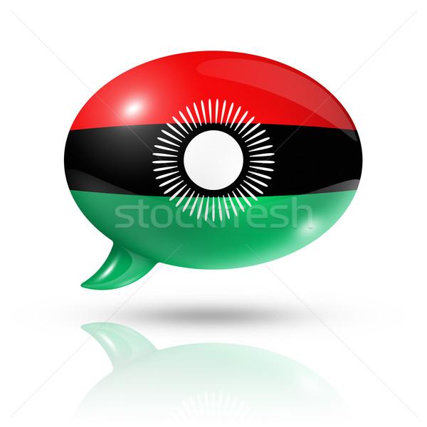 Malawi vlag tekstballon geïsoleerd witte Stockfoto © daboost