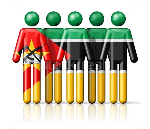 Bandeira Moçambique social comunidade símbolo Foto stock © daboost