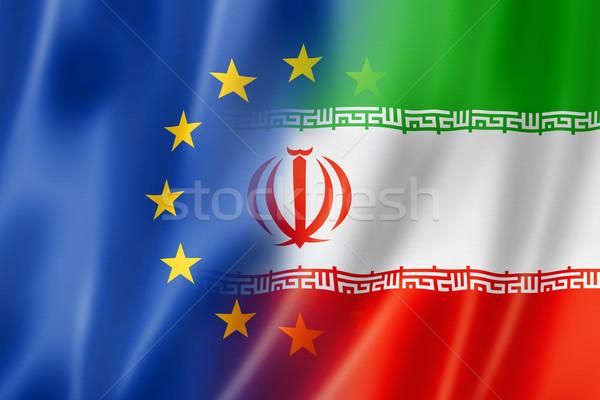 Европа Иран флаг смешанный оказывать Сток-фото © daboost