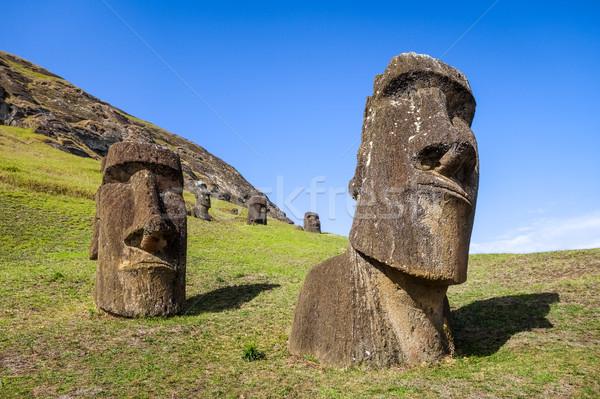 Vulkaan Easter Island Chili landschap oceaan Blauw Stockfoto © daboost