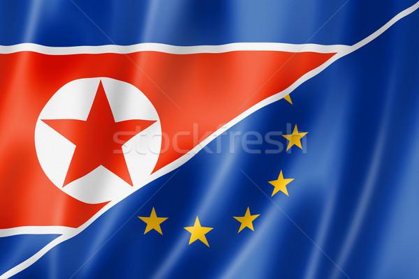 Европа север флаг смешанный оказывать Сток-фото © daboost