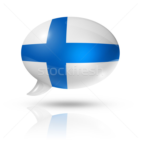 Finnish flag speech bubble Stock photo © daboost