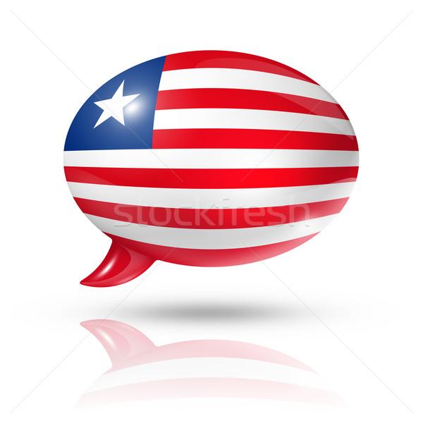 Liberian flag speech bubble Stock photo © daboost