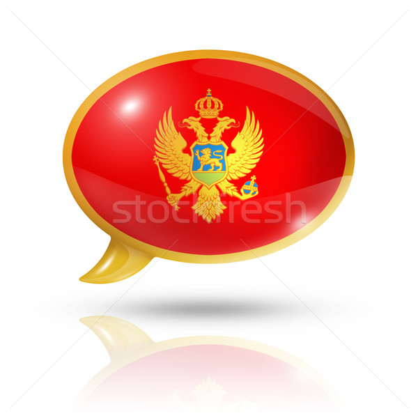 Montenegro flag speech bubble Stock photo © daboost