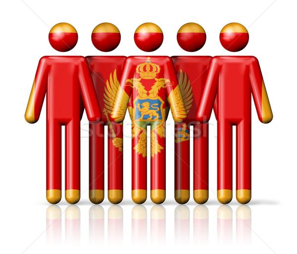 Vlag Montenegro sociale gemeenschap symbool Stockfoto © daboost
