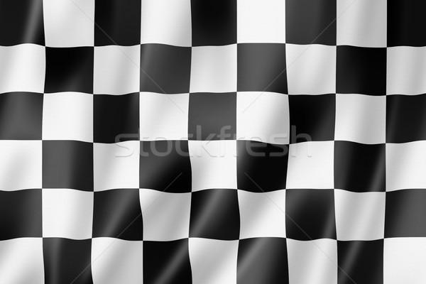 Auto racing afwerking vlag Stockfoto © daboost