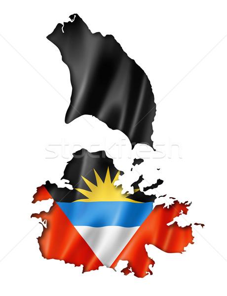 Antigua and Barbuda flag map Stock photo © daboost