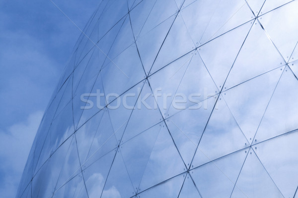 sky reflecting in building Stock photo © daboost