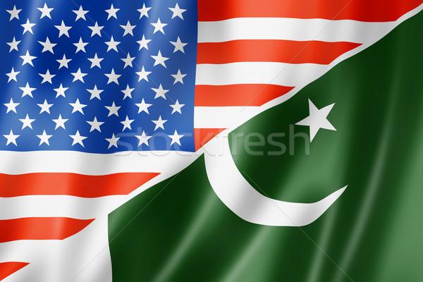 USA Pakistan vlag gemengd geven Stockfoto © daboost
