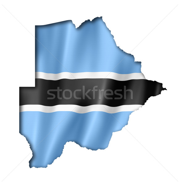 Botswana flag map Stock photo © daboost