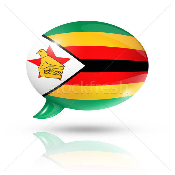 Zimbabwean flag speech bubble Stock photo © daboost
