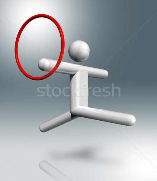 Jimnastik ritmik 3D simge spor üç boyutlu Stok fotoğraf © daboost