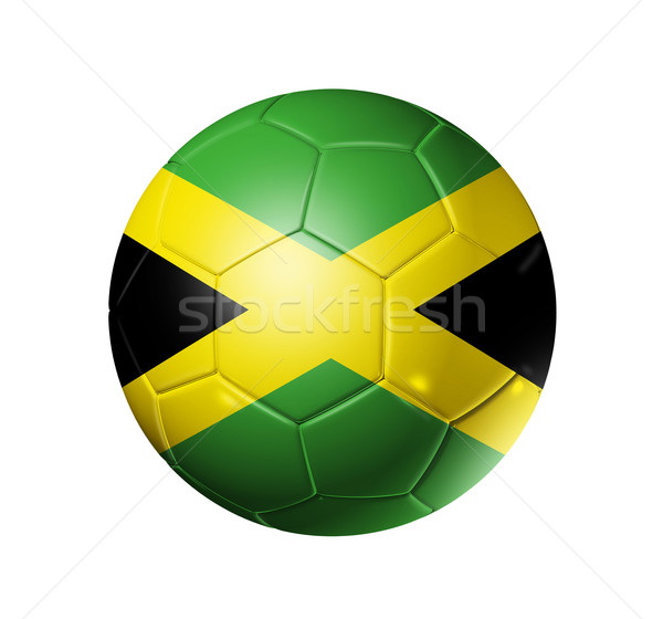 Soccer football ball with Jamaica flag Stock photo © daboost