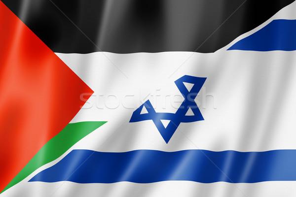 Israël vlag gemengd geven illustratie Stockfoto © daboost