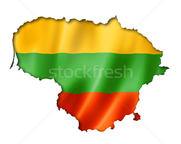 Lithuanian flag map Stock photo © daboost