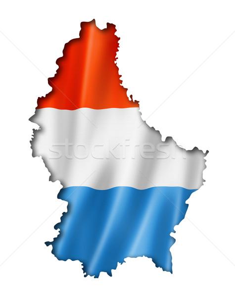 Люксембург флаг карта оказывать изолированный Сток-фото © daboost