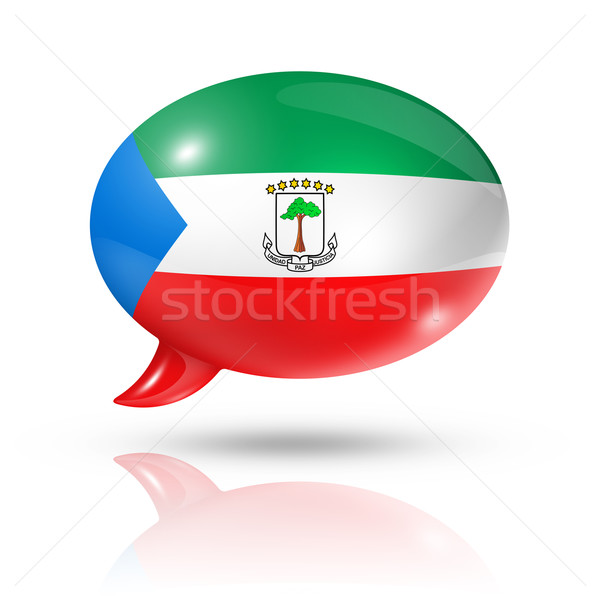 Equatorial Guinea flag speech bubble Stock photo © daboost