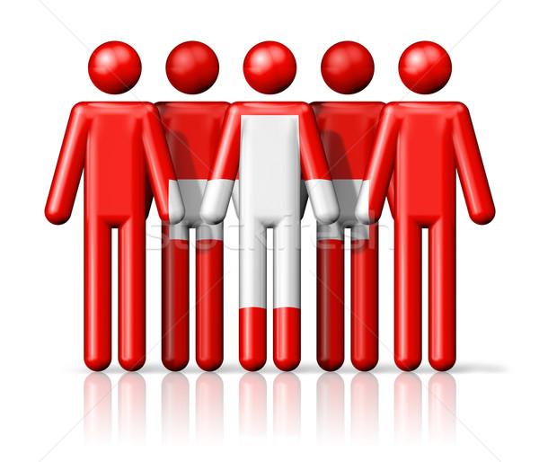 Zászló Svájc pálcikaember társasági közösség szimbólum Stock fotó © daboost