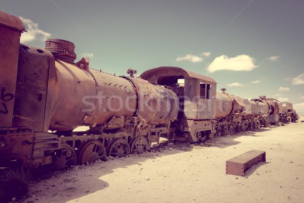 Train cemetery in Uyuni, Bolivia Stock photo © daboost