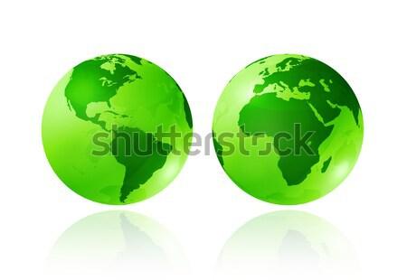 green transparent globes Stock photo © daboost