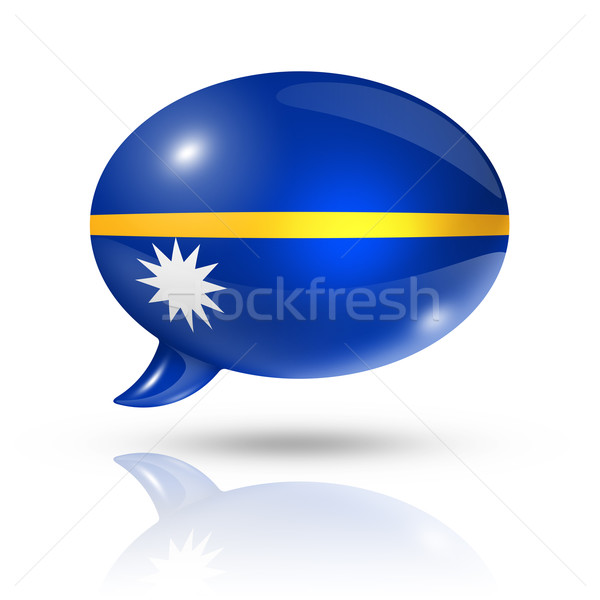 Nauru flag speech bubble Stock photo © daboost