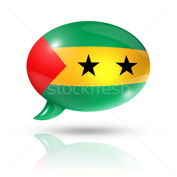 Sao Tome and Principe flag speech bubble Stock photo © daboost