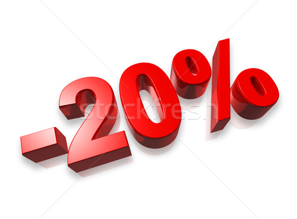 20 vinte por cento 3D número isolado Foto stock © daboost