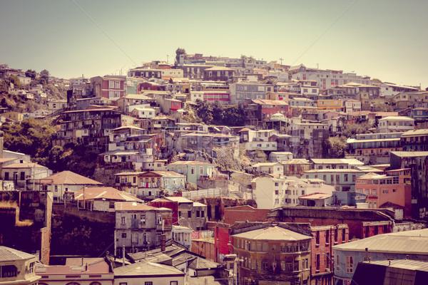 Valparaiso cityscape, Chile Stock photo © daboost