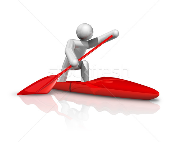 Canoe Sprint 3D symbol Stock photo © daboost