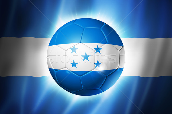 Soccer football ball with Honduras flag Stock photo © daboost