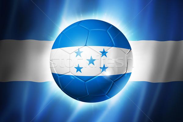 Futebol futebol bola Honduras bandeira 3D Foto stock © daboost