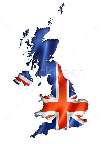 British flag map Stock photo © daboost