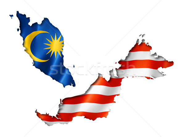 Malaysian flag map Stock photo © daboost
