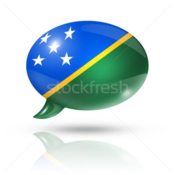 Solomon Islands flag speech bubble Stock photo © daboost