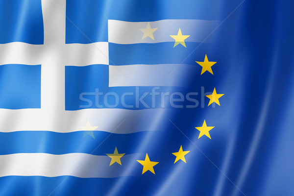 Greece and Europe flag - 3D illustration Stock photo © daboost
