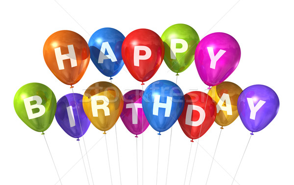 Happy Birthday balloons Stock photo © daboost