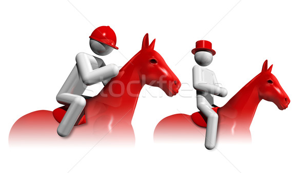 Equestrian Eventing 3D symbol Stock photo © daboost