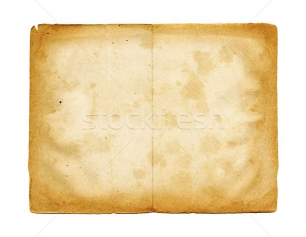 Foto stock: Pergamino · textura · del · papel · aislado · blanco · papel · textura