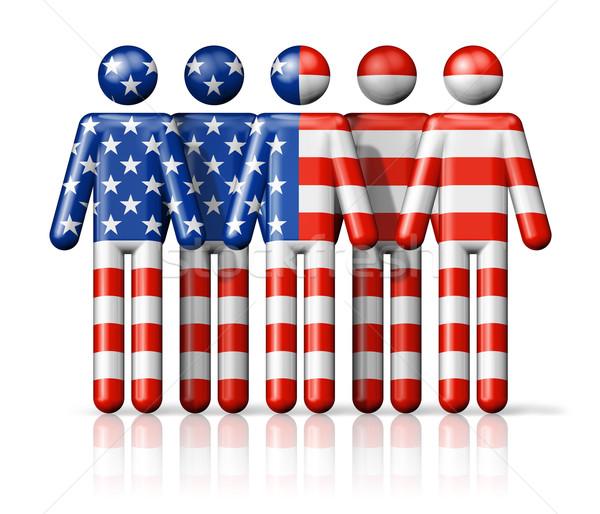 Vlag USA sociale gemeenschap symbool Stockfoto © daboost