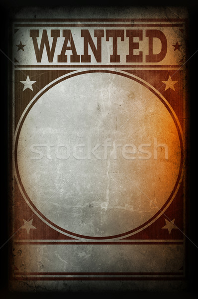 Wanted poster printed on a grunge wall Stock photo © daboost