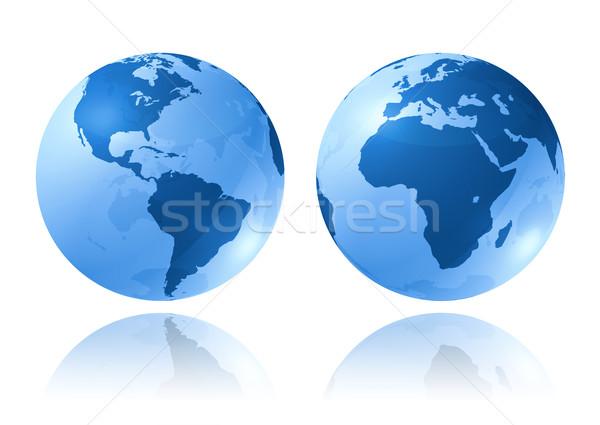 blue glossy globes Stock photo © daboost