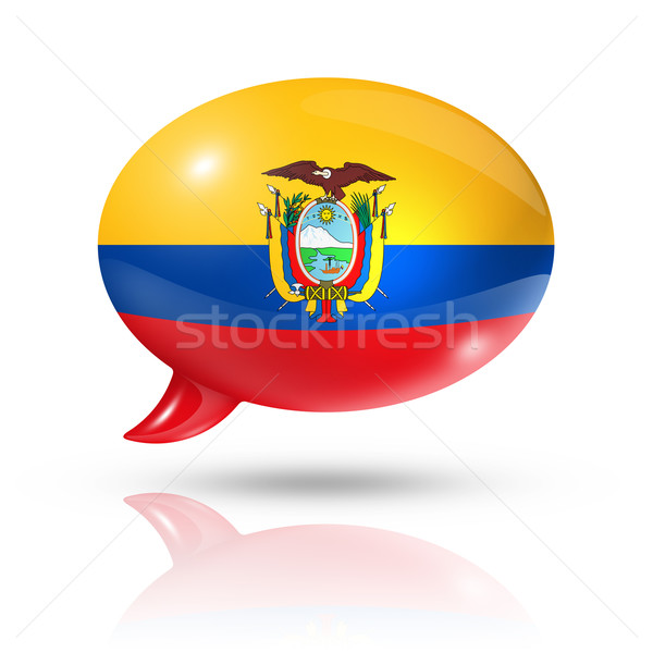 Ecuadorian flag speech bubble Stock photo © daboost