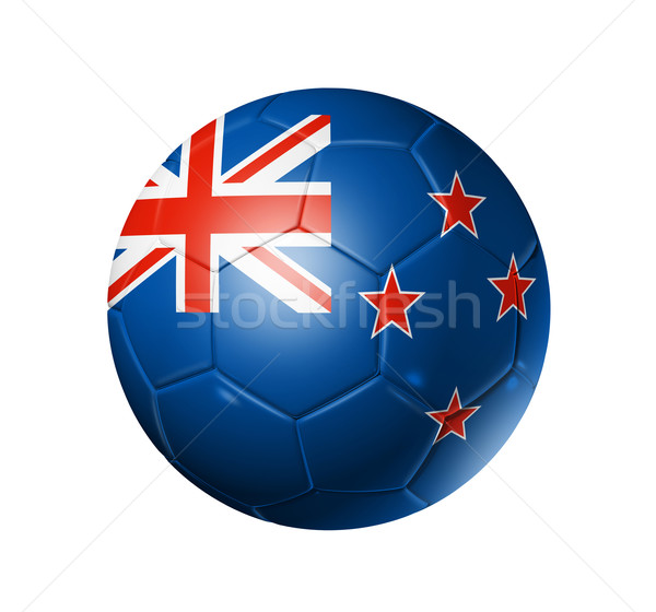 Voetbal voetbal bal New Zealand vlag 3D Stockfoto © daboost