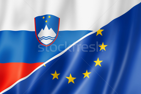 Slovenia and Europe flag Stock photo © daboost