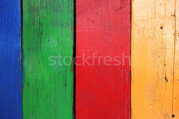 Old multicolor wood board Stock photo © daboost