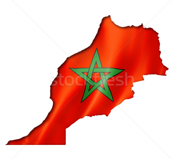 Moroccan flag map Stock photo © daboost