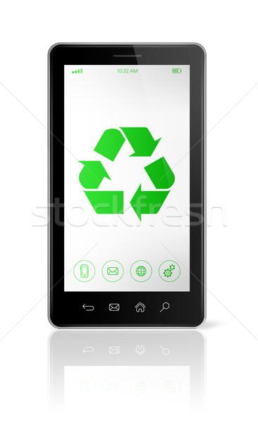 смартфон Recycle символ экране экологический 3D Сток-фото © daboost